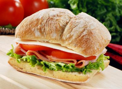 A ham sandwich.